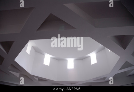 Islamic Star in the celing of the Edinburgh central Mosque - Stock Photo