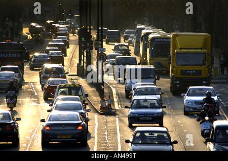 Traffic On Victoria Embankment At Blackfriars - Stock Photo