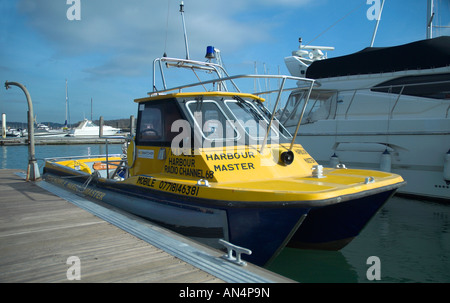 Warsash Harbour Master Boat in Warsash Harbour Hampshire England Britain UK - Stock Photo