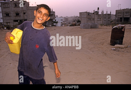 A boy on streets of Gaza - Stock Photo