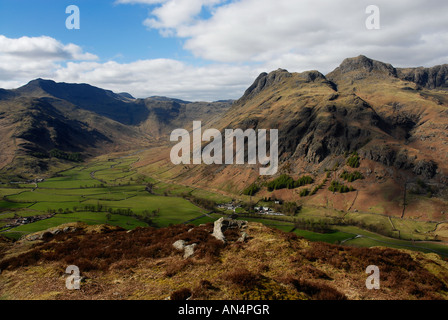 Bowfell and The Langdale Pikes in the English Lake District