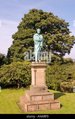 Statue of Onesiphorus Tyndall Bruce Esquire of Falkland in grounds of Falkland Parish Church Fife Scotland - Stock Photo