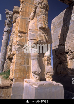 Ruins of the Gate of All Nations in ancient city of Persepolis, Iran, Middle East - Stock Photo