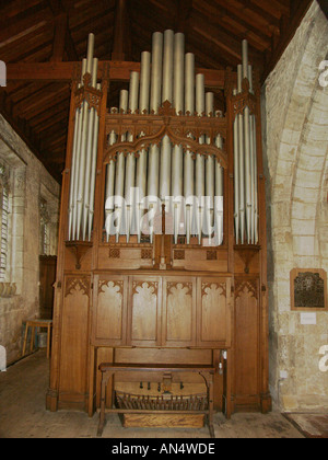 Clayworth St Peters Church the Organ - Stock Photo