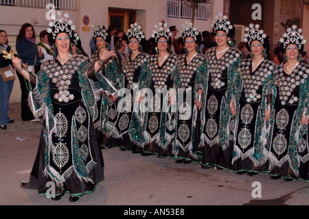 Spain Moors and Christians Fiesta in Villafranquesa Spain Villafranqueza Alicante Fiestas De Moros Y Cristianos - Stock Photo