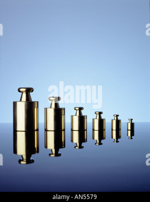 weights of various sizes - Stock Photo