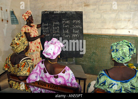 Adult education class, The Gambia, West Africa - Stock Photo