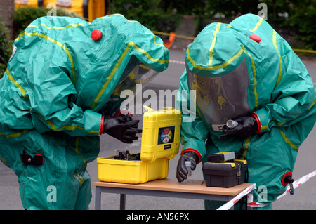 Emergency services take part in a chemical or biological attack exercise, Britain, UK - Stock Photo