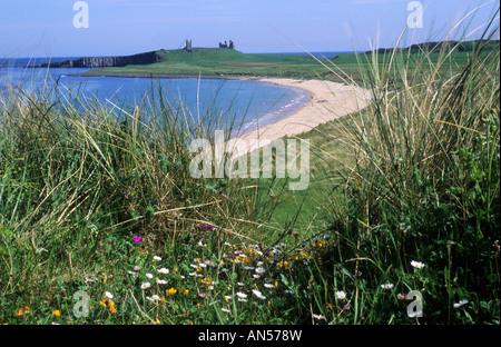 Dunstanburgh Castle Northumberland - Stock Photo