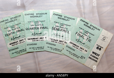 1966 World Cup Final football tickets - Stock Photo