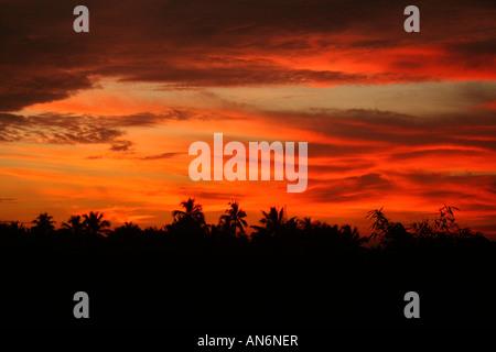 Stunning sunset - Stock Photo