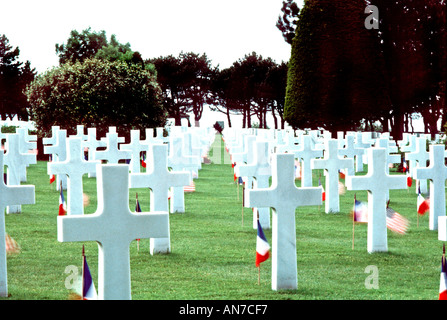 NORTH OF FRANCE, Normandy FRANCE Landscape 'Colleville sur Mer' 'Omaha Beach' American Military Cemetery 'World - Stock Photo