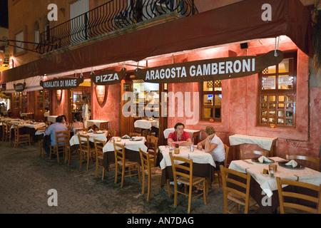 Restaurant on 5th Avenue at Night, Playa del Carmen, Riviera Maya, Yucatan Peninsula, Quintana Roo, Caribbean Coast, Mexico
