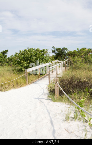 beach path POINT YBEL SANIBEL ISLAND Florida - Stock Photo