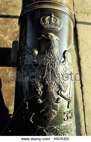 Saxony Köningstein fortress detail of a gun - Stock Photo