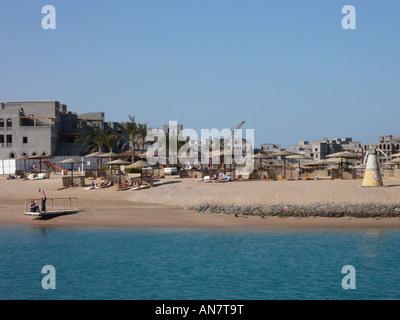 Construction work north of Abu Tig Marina, El Gouna - Stock Photo