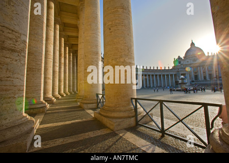 Italy Rome the Vatican City View to St Peters Basilica - Stock Photo