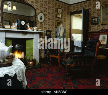 Living Room Glasgow living room tenement house glasgow stock photo, royalty free image