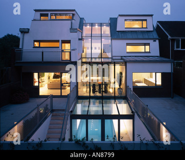 basement pool house. Modern House With Basement Pool, Hampstead - Exterior View Rear Facade Swimming Pool