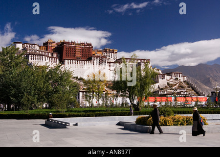 Potala Palace in Lhasa in Tibet Autonomous Region of China - Stock Photo