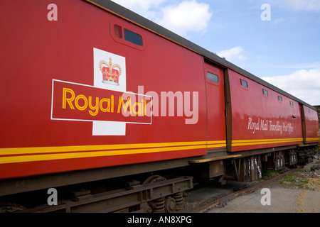 Kirklees Light Steam Railway Huddersfield West Yorkshire Royal Mail Post Office travelling post office - Stock Photo