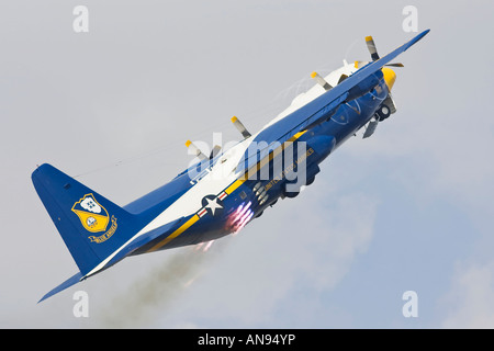 Blue Angels Fat Albert take off with JATO solid rocket boosters - Stock Photo