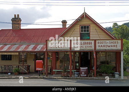 Wollombi General Store Wollombi Hunter Valley Australia - Stock Photo