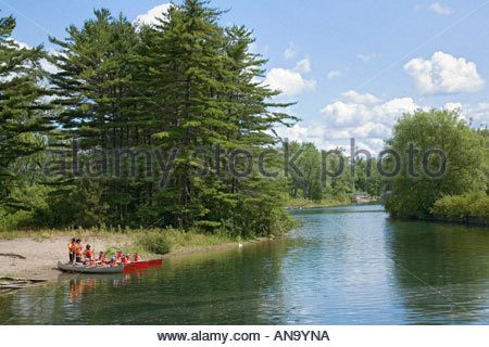 YMCA canoe day school in Toronto Islands Park in Toronto Ontario Canada - Stock Photo