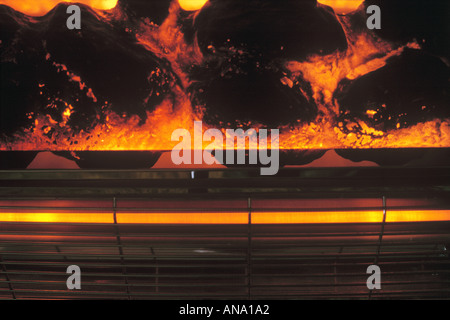 electric fire with coal effect - Stock Photo
