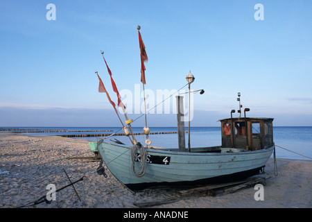 Fishing cutter at the Baltic Sea, Usedom, Germany