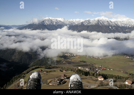 paragliders view, Italy - Stock Photo