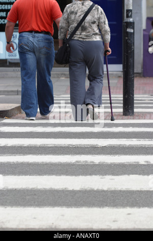 Pedestrian zebra road crossing - Stock Photo