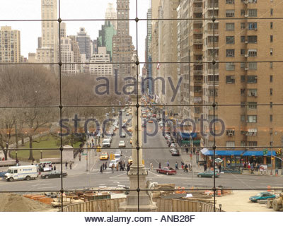 Columbus Circle looking over Central Park South - Stock Photo