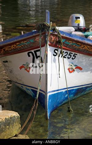 Wooden boat (detail), The Inland Sea, Gozo, Malta - Stock Photo