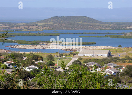 View over the US Naval Station Guantanamo Bay, Cuba - Stock Photo