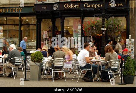 Restaurant cafe on Broad Street in the University city of Oxford England UK - Stock Photo