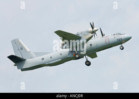 Croatian Air Force An-32B transport aircraft taking off - Stock Photo