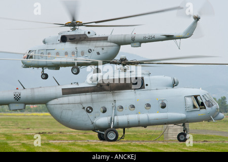 Croatian Air Force Mi-8 MTV-1 helicopters - Stock Photo