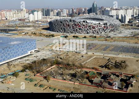 2008 Beijing Olympic Games Stadiums 29 Nov 2007 - Stock Photo