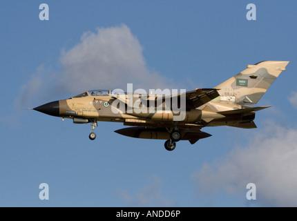 Royal Saudi Air Force Panavia Tornado IDS strike aircraft. Military aviation. - Stock Photo