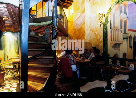 antwerp antwerpen anvers flander flanders flemish belgium europe benelux city town restaurant artistic atmosphere - Stock Photo