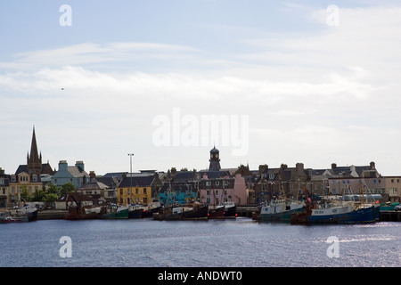 Stornoway harbour Outer Hebrides United Kingdom - Stock Photo