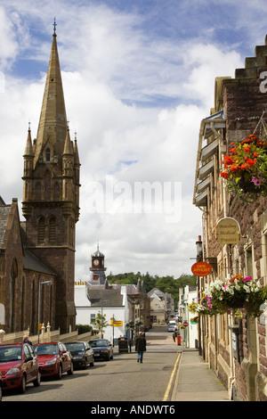 Stornoway high street Outer Hebrides United Kingdom - Stock Photo