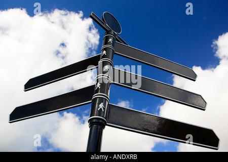 Direction sign United Kingdom - Stock Photo