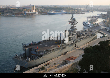 Aircraft carriers in port at Naval Station Norfolk ...Spanish Aircraft Carrier Prince Of Asturias