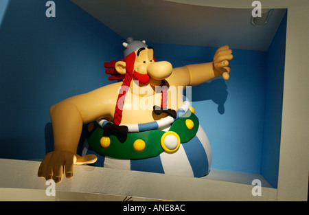 obelix musée Grevin Paris France Wax characters wax figures - Stock Photo