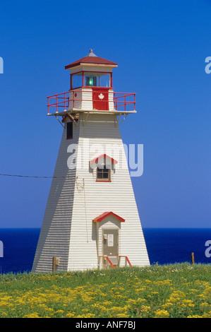 Lighthouse, Cape Tryon, Prince Edward Island, Canada. - Stock Photo