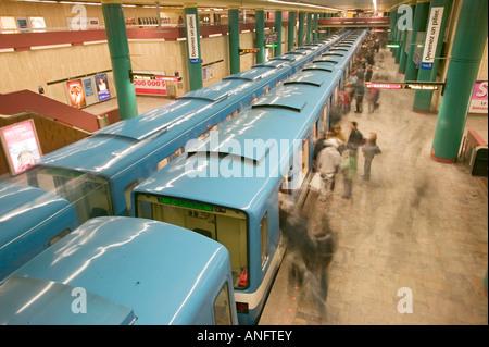 metro, subway, montreal city, quebec, canada. - Stock Photo