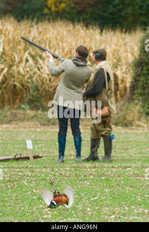 Game bird shoot  Hampshire England - Stock Photo