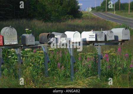 rural mailboxes - Stock Photo